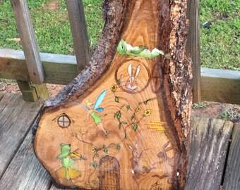 Woodland Wonderland - Original Painted Woodburning
