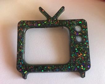Retro tv brooch