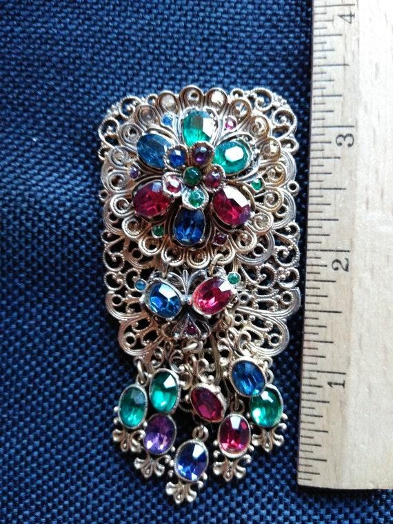 antique costume pin