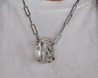 Herkimer Diamond Pendant, Herkimer Diamond Necklace, Large Herkimer, Natural Herkimer, New York Herkimer