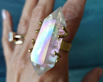 Aura Opal Magic Stackable Ring