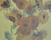 Wrapping Paper. Gift Wrap, Art Paper Van Gogh - Sunflowers