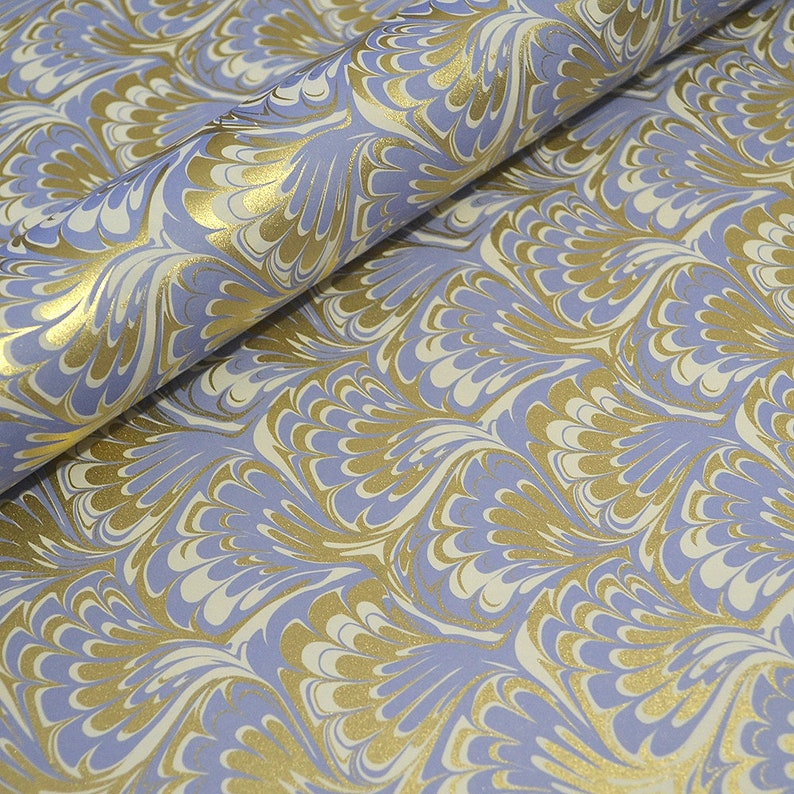 c60d02519305 Traditional Marbled Style Italian Paper Lilac and Gold