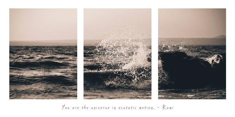 Rumi Wave Print You Are The Universe In Ecstatic Etsy