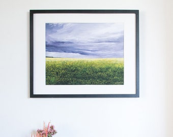 Limited Edition Digital Fine Art Print, 11 X 14, Canola Field, Signed and Numbered by Jen Unger. Unframed.