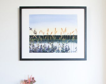 Limited Edition Digital Fine Art Print, 11 X 14, Emma Lake, Signed and Numbered by Jen Unger. Unframed.