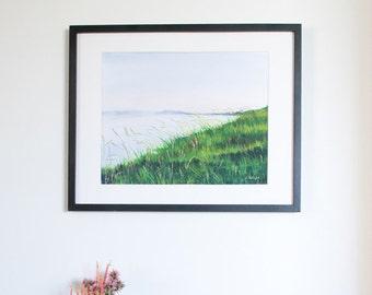 Limited Edition Digital Fine Art Print, 11 X 14, Saskatchewan River Bank, Signed and Numbered by Jen Unger. Unframed.