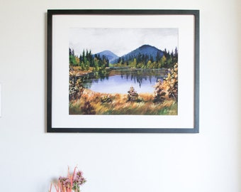 Limited Edition Print/ Fine Art Print/ glicee fine art print/ Autumn Foothills painting/ Signed Print/ unframed