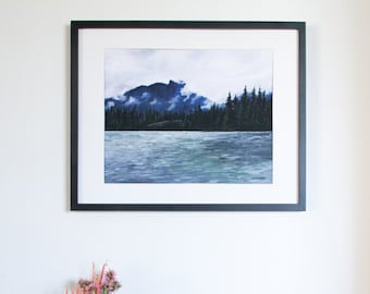 """Limited Edition Digital Fine Art Print, 11 X 14, """"Kootenay Mountains"""" Signed and Numbered by Jen Unger. Unframed."""