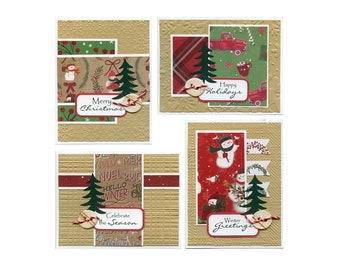Card Kits Subscription, October (image shows current month) , DIY Cards, Christmas card kit, Xmas cards, holiday card kit, Christmas crafts