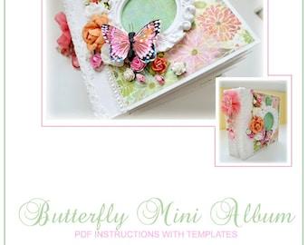 Butterfly Mini Album. PDF Instructions