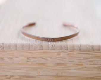 Small Copper Cuff