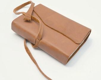 Burnt Orange Leather Pocket Notebook Bound Journal Art Diary (291)