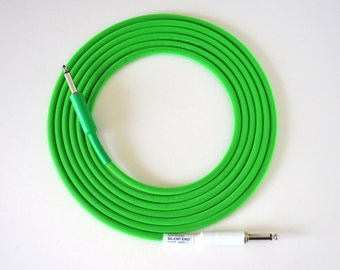 10 ft. Mogami 2524 Cable, Silent tip, Neon Green, Hand Made -New