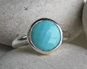 Turquoise Statement Ring- Boho Ring Turquoise- Sleeping Beauty Turquoise Ring- December Birthstone Ring- Bohemian Something Blue Ring