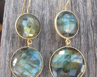 Mesmerizing Labradorite Dangle Earrings Boho, Drop Earrings, Iridescent Statement Earrings, Stone Earrings, Gifts for her,Gemstone Earrings
