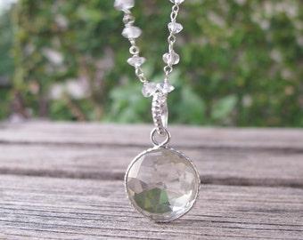 Clear Quartz Necklace Bridal Necklace