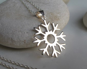 Snowflake Necklace- Charm Necklace- Christmas Necklace- Statement Necklace- Festive Necklace- Christmas Gift