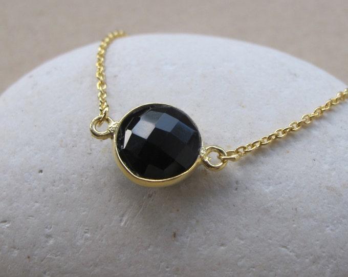 Onyx Silver Bracelets- Black Onyx Bracelets- Gold Bracelets- Gold Stone Bracelets- Sterling Silver Onyx Bracelets- Dainty Bracelets