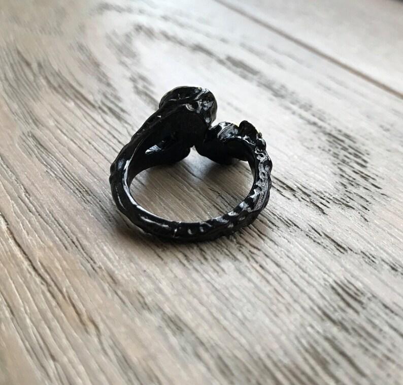 Pink Tourmaline Garnet Opal Cluster Gemstone Statement Ring Multistone Solitaire Unique Cluster Stone Ring Handmade OOAK Ring