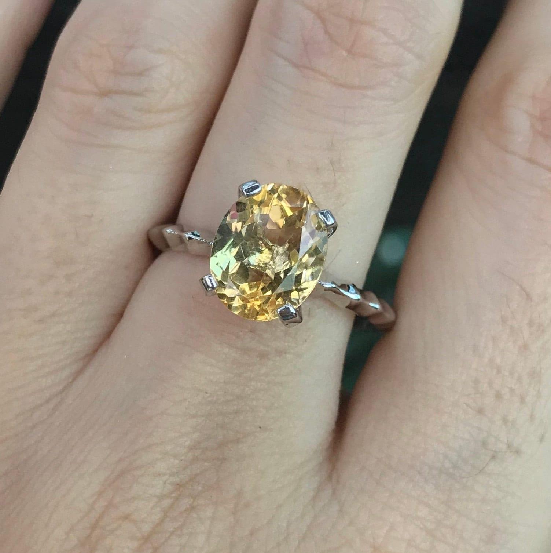 Engagement Ring Oval Ring Prong Ring Citrine ring Cocktail Ring Gold Ring Statement Ring Statement Ring November Birthstone