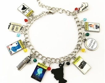 bc153d06257 Broadway Inspired - choose Bracelet, or Individual charms for Book of  Mormon, Hairspray, Finding Neverland, Rent, Mamma Mia
