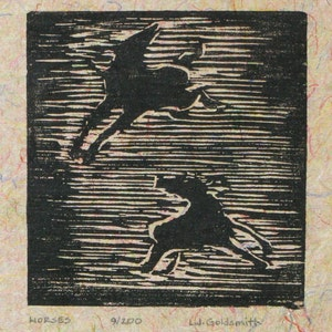 TWIST \u2022 Cat Art Print \u2022 Original Woodcut \u2022 Handmade Limited Edition