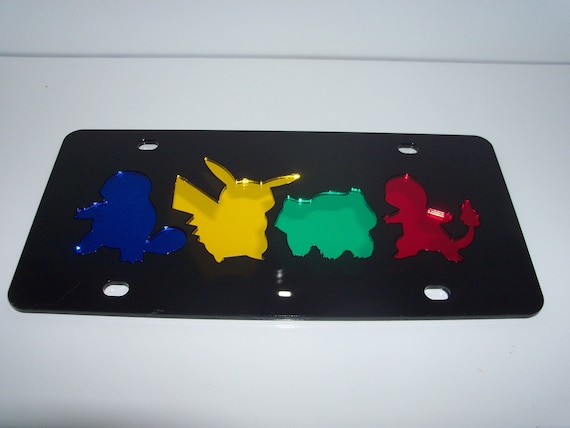 License Plate Pokemon Go Pikachu Ball Auto Truck Car Tag CUSTOM NEW