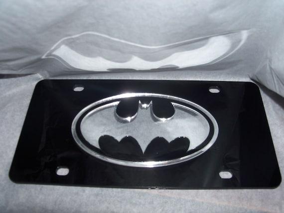 Batman Mirror Laser License Plate Black//Silver  NEW!!