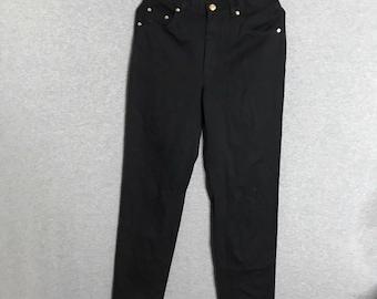 ESCADA Black Jeans Size: 8