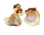Small Raw Opal Stud Earrings Gifts for Her Gifts for Wife Valentines Gifts for Girlfriend Gifts for Women Best Valentines Gifts