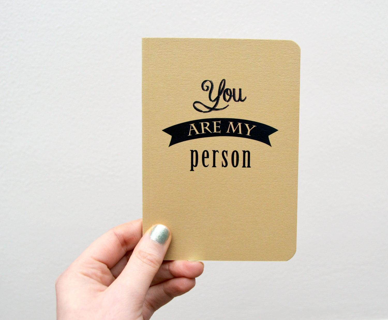 Eres mi persona portátil de Grey anatomía citar | Etsy
