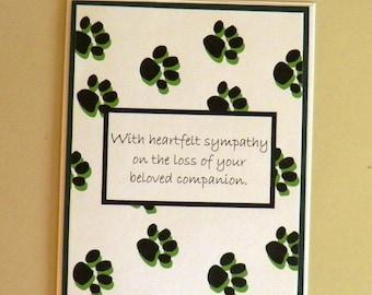 pet sympathy card pet loss cat loss dog loss with heartfelt sympathy pet card cat sympathy card dog sympathy card pets sympathy