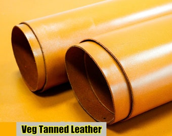 Italy Vegetable Tanned Leather, Beeswax of Leather Off Cuts, Italian Genuine Cowhide Leathercraft [Thickness: 2/1.5/1mm] L021