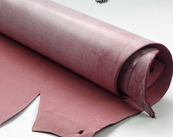WineRed Leather Scraps, Leather Offcuts, WineRed Colors of Leather Off Cuts, Genuine Cowhide Leather Scraps, Leather Crafts