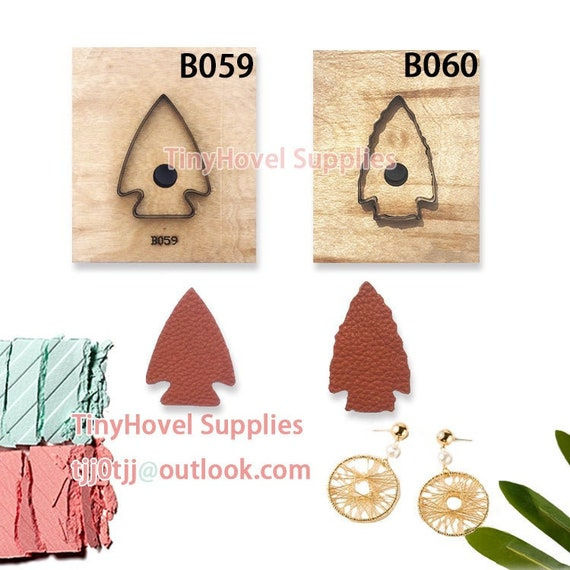 suit for Hand Leather Cutting Machine,Sizzix Big Shot The Arrow Arrowhead Earring Steel Cutting die for Leather BM for leather crafts