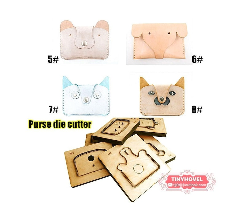 Steel Punch BM088 Cutting Mold for Leather The Card clip  Wallet  Purse  Coin Purse Steel Rule Die Cut Cutter for leather crafts