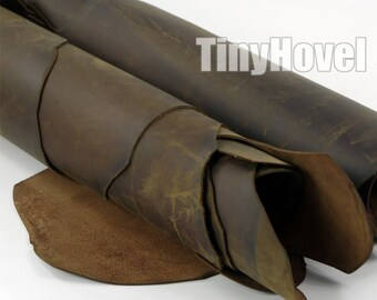 CrazyHorse Leather Scraps, 2mm thickness Leather Offcuts, CrazyHorse of Leather Off Cuts, Genuine Cowhide Leather Scraps, LeatherCrafts L009