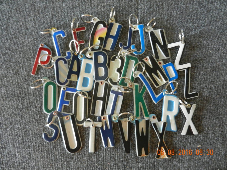 Kfz-Kennzeichen Schlüssel Kette Buchstaben oder Zahlen | Etsy