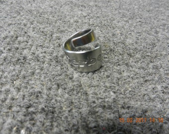 Upcycled  Stainless Gerber Baby Spoon Swirl Ring