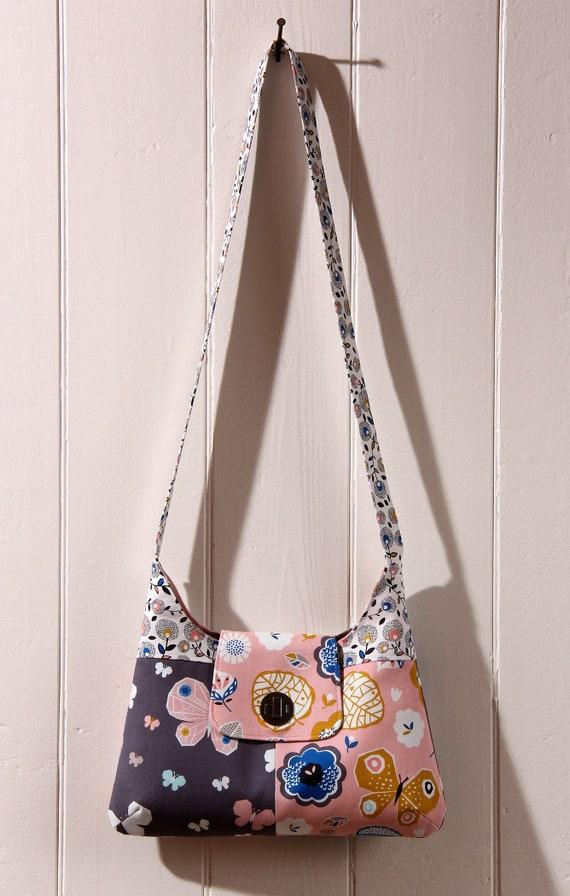 September Blue Hobo Bag Purse sewing pattern