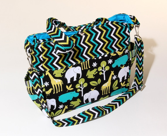 Sewing Pattern Sophie Diaper Bag with zipper and lots of