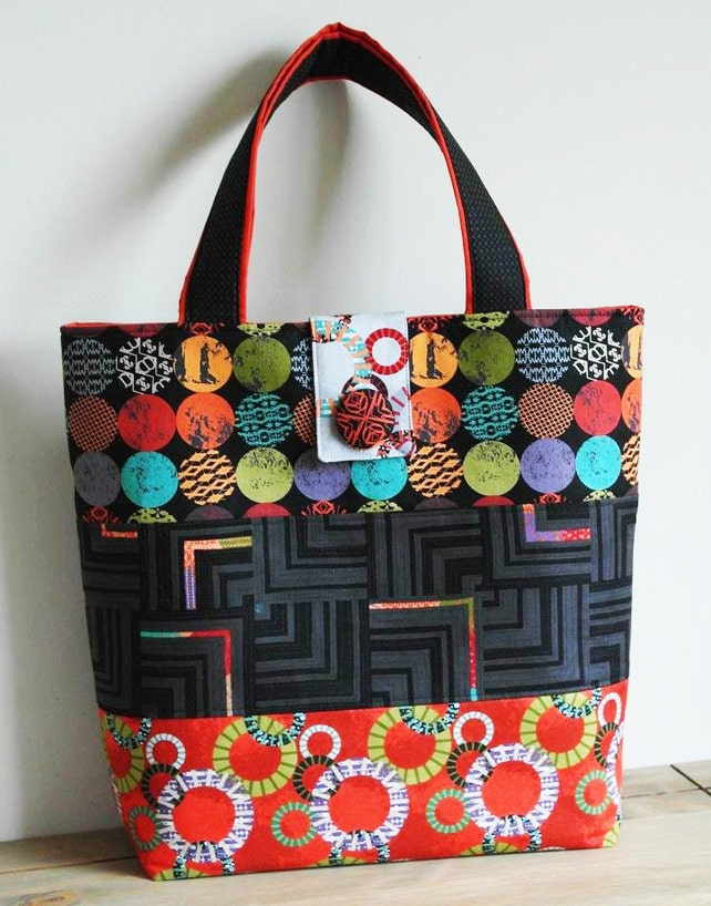 Tote Bag Sewing Pattern PN502 Uptown Tote Bag | Etsy
