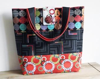 Tote Bag Sewing Pattern PN502 Uptown Tote Bag
