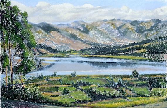Mountain Lake Archival Print
