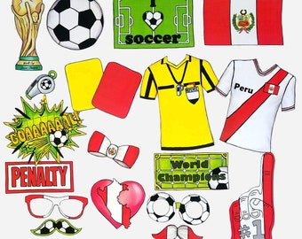 World Cup PERU soccer photo booth props - the ultimate fan accessory - 2018  FIFA Soccer Championship in Russia - support Perú - fútbol 1e221172f