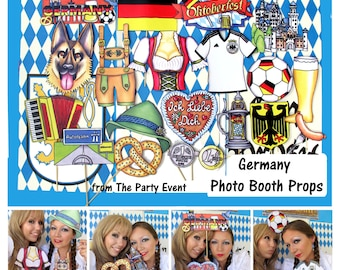 Germany Oktoberfest photo booth props perfect for your own Octoberfest Party, to celebrate Germany and the German culture