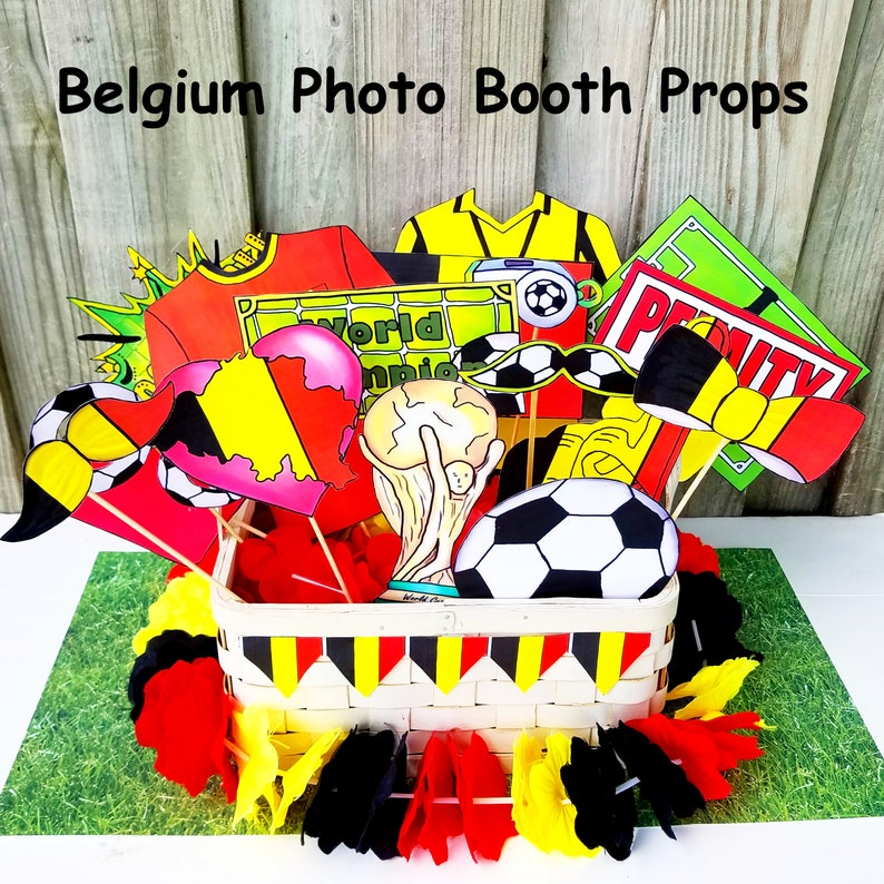 World Cup BELGIUM soccer photo booth props - the ultimate fan accessory -  2018 FIFA Soccer Championship in Russia - support België