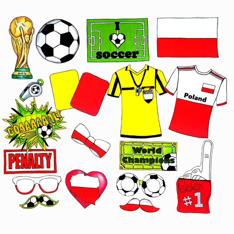 83b93fe7e World Cup POLAND soccer photo booth props the ultimate fan