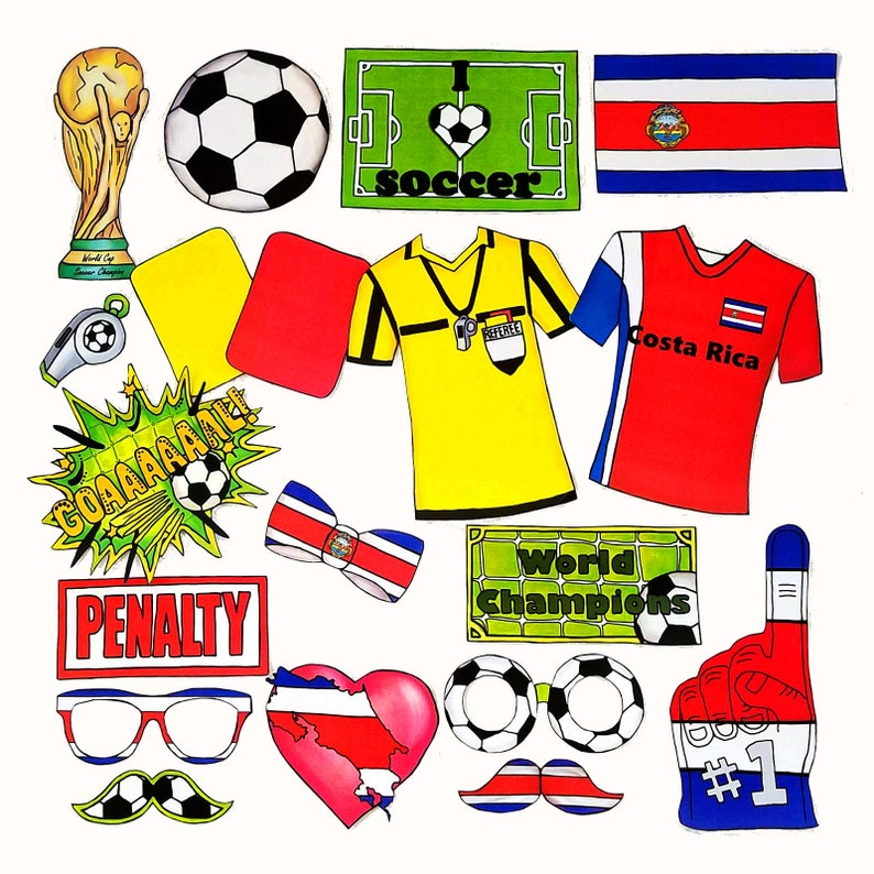d191a2d1ab5 World Cup COSTA RICA soccer photo booth props the ultimate